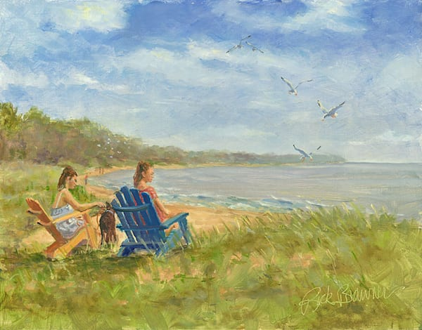 """Beach Chairs"" fine art print by Rick Brawner."