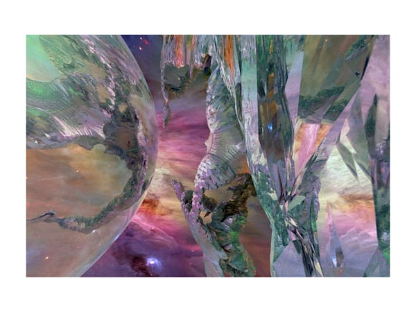18x24 Stalactite Crystals Among The Stars On Paper Art | HFA print gallery
