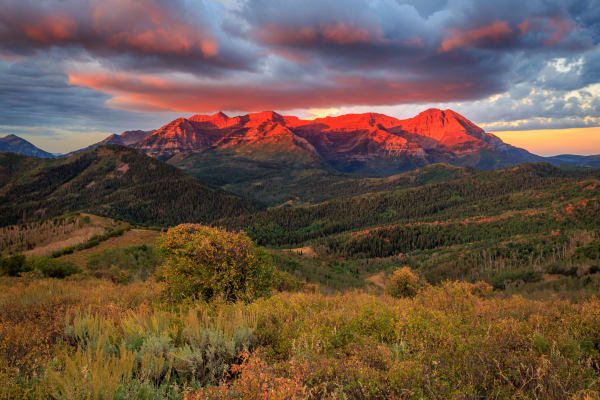 Autumn Glow on Timpanogos