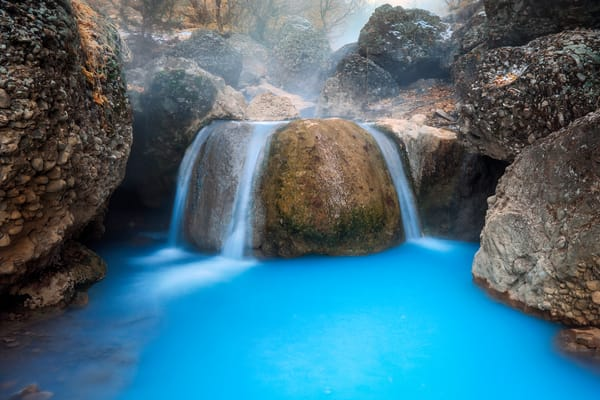 diamond fork blue waterfall