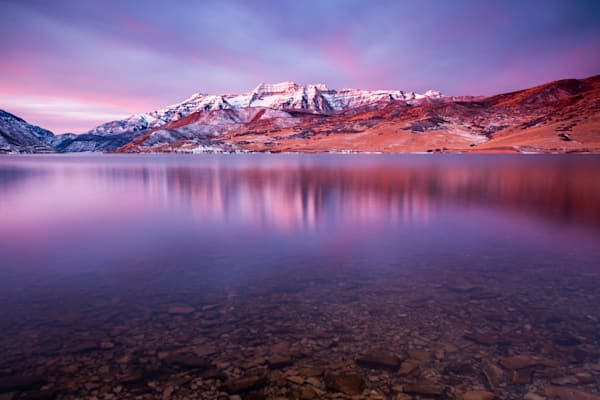 Winter Glow Deer Creek Reflection