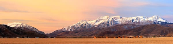 harvest sunrise heber valley panorama