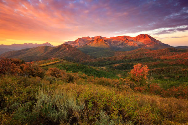 fall sunrise in the wasatch back