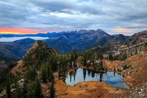 dawn glow at silver glance lake