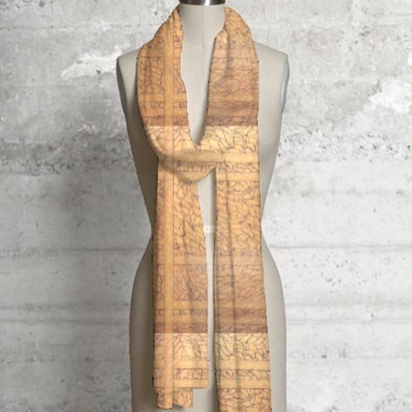 Tape Collage Scarf