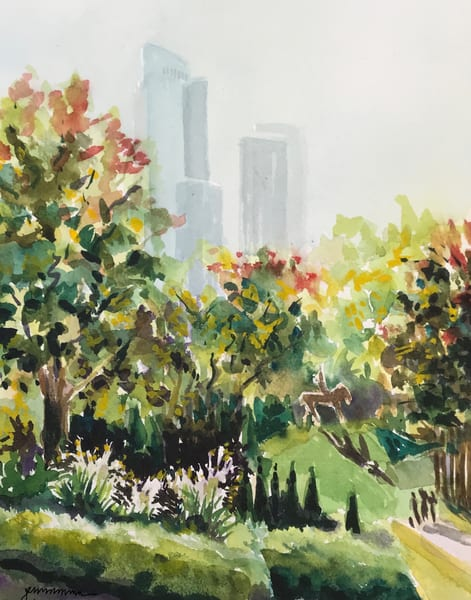 Grant Park toward One Museum Park