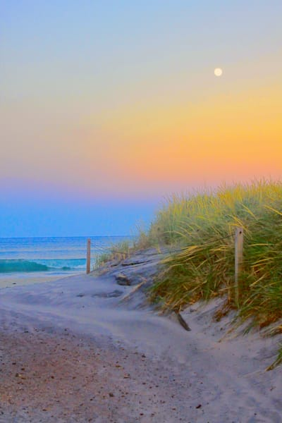 Full Moon Over Dunes|Fine Art Photography by Todd Breitling