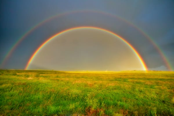 Double Rainbow Nature Wall Art Print | Robbie George
