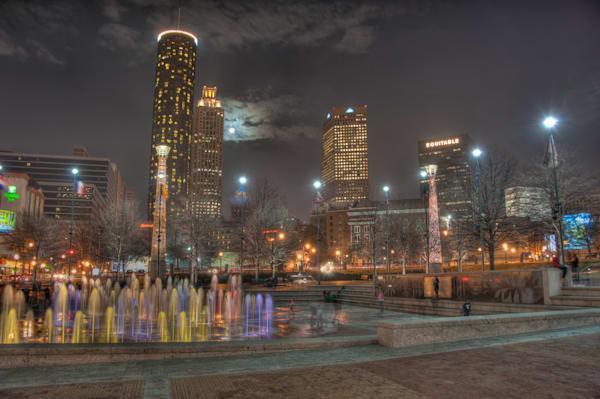Atlanta's Fountain of Rings