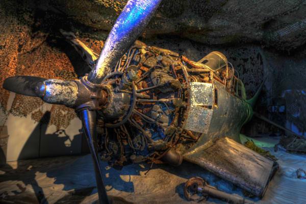 Sunken Douglas SBD Dauntless II