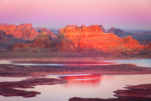 lake powell sunset mesa
