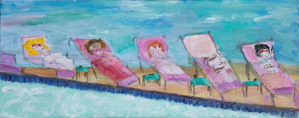 Poolside Art | Mary Kinzelberg Art