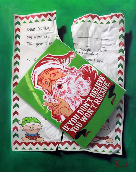"Tomasz Rut Fine Art | Holiday Cheer | Dear Santa, 27x34"""