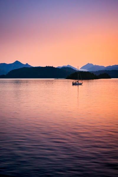 haida gwaii twilight reflection