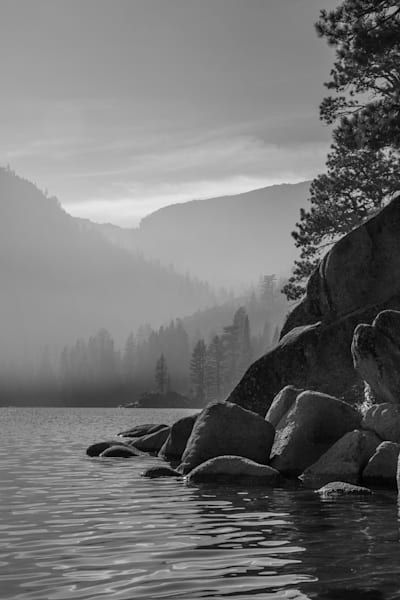 Smoke on the Bay I Lake Tahoe Landscape Photography I David N. Braun