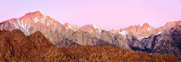 eastern sierra sunrise panorama