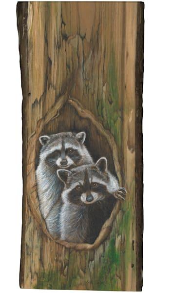 Raccoon Couple Art | Lori Vogel Studio