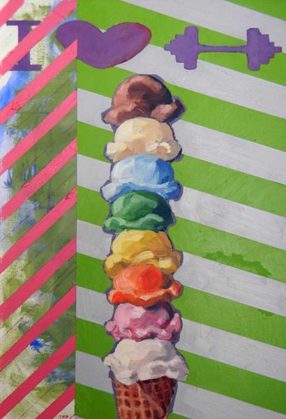 Matt Pierson Artworks | I heart weights or ice-cream