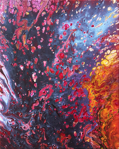 Molten abstract PMS fluid painting