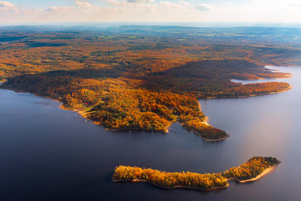 Hinckley Reservoir, fall