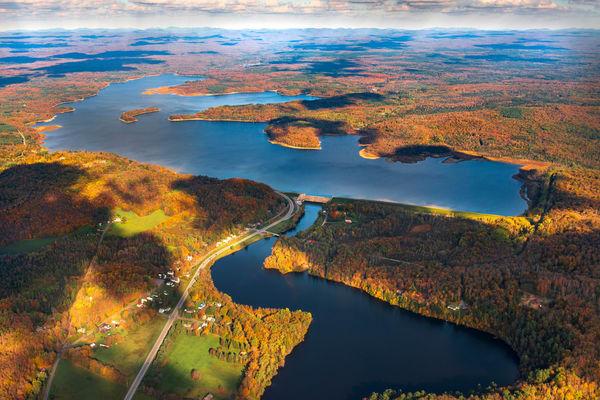 Hinckley Reservoir,fall