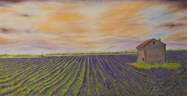 "Lavender Fields (24"" x 48"") 1,300 hrs."