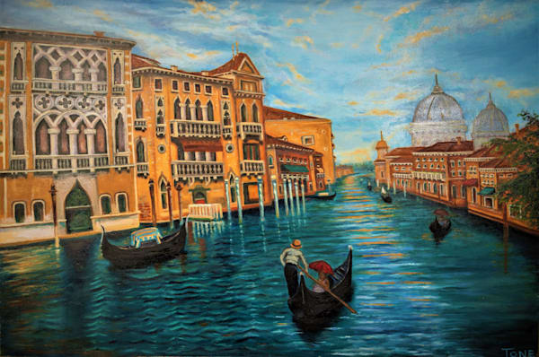 "Grand Canal (24"" x 36"") 1,900 hrs."