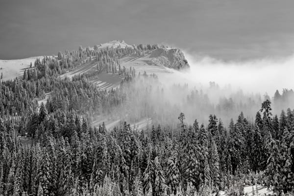 Clouds Lifting From Castle Peak Photography Art | David N . Braun Photography