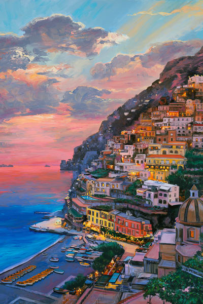 Sunset at Positano
