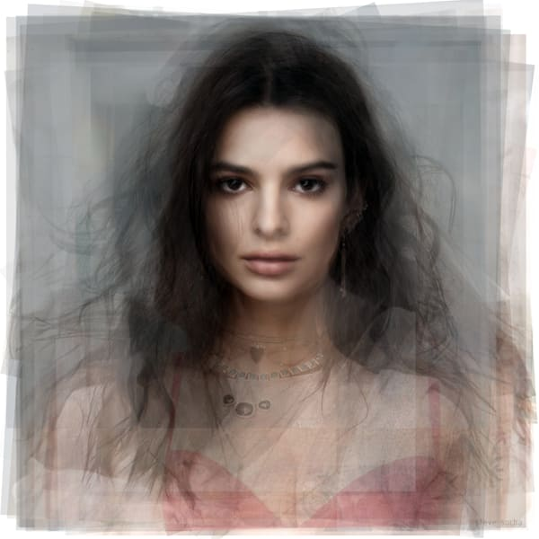 Overlay art – contemporary fine art prints of Emily Ratajkowski