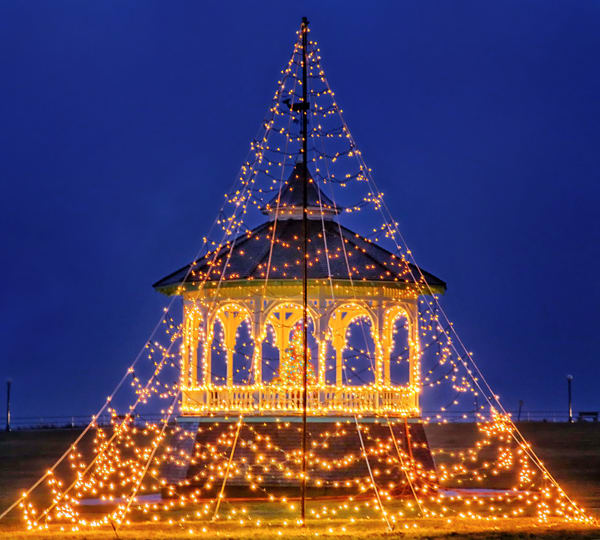 Oak Bluffs Bandstand Christmas
