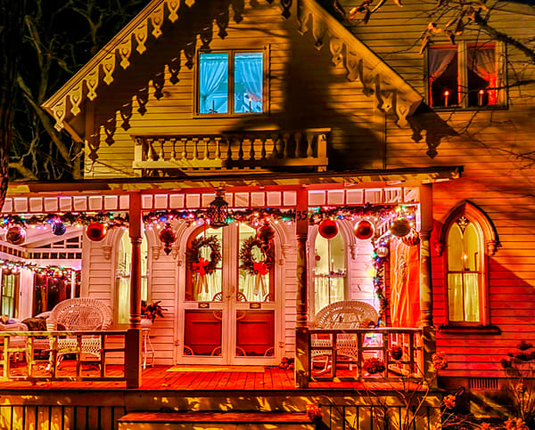 Gingerbread Pink Porch