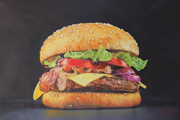 Tomasz Rut Fine Art | Pop Realism | Burger Deluxe
