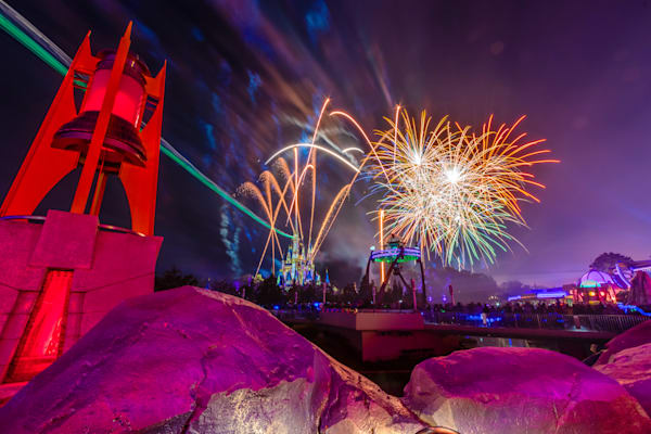 Tomorrowland Fireworks 7 - Disney Art Prints | William Drew
