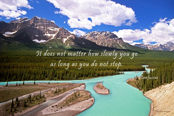 The Athabaska River in Banff National Park, Canada.