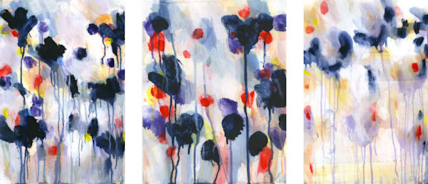 Wildflower Triptych Art | Caroline Wright Art