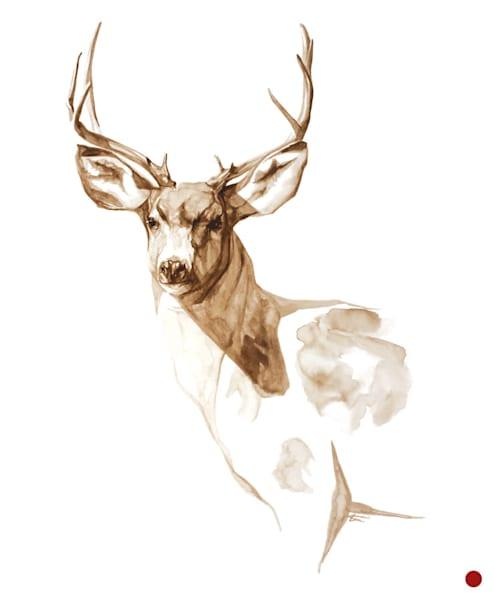 Prince of the Prairie - White-tail Buck Coffee Painting