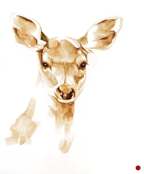 SK Fawn - Original Coffee Painting