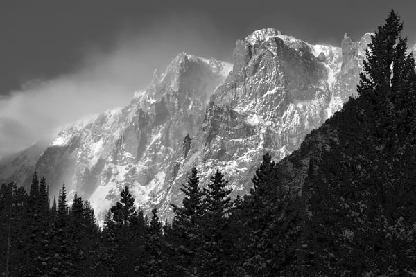 Flattop Mountain in Black & White