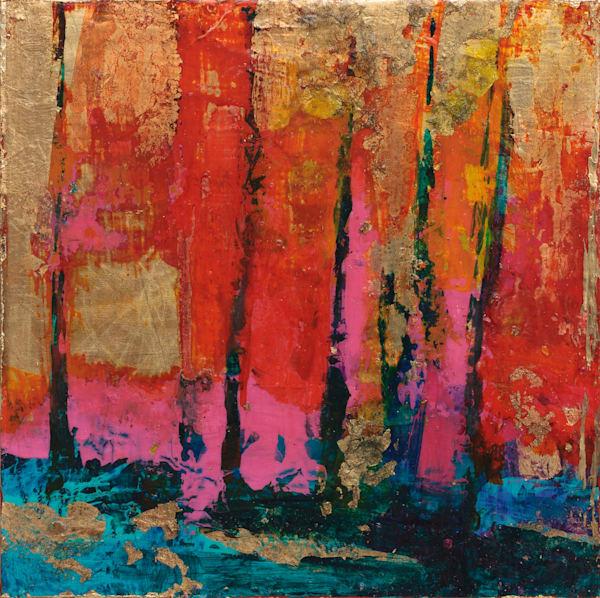 Mixed-Media-Abstract Landscape Canvas Wall Art