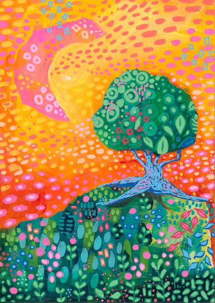 Under The Fire Sky, Original Painting Art   Jessica Hughes Fine Art