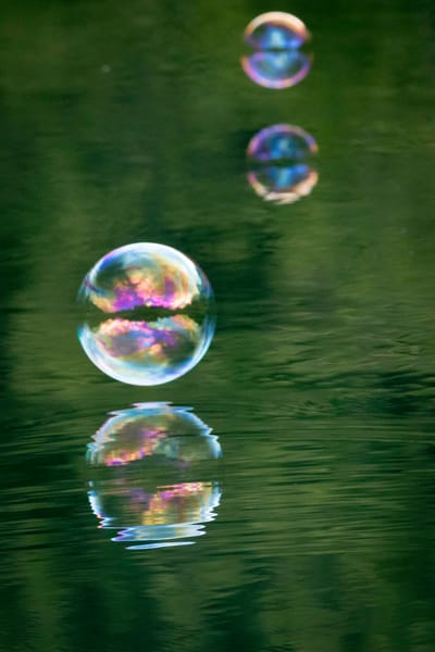 Playful Soap Bubbles