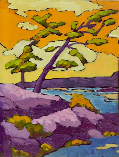Two Trees On A Point Art | Keith Thirgood