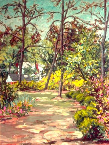 Boxwood Farm Garden Print by Dorothy Fagan