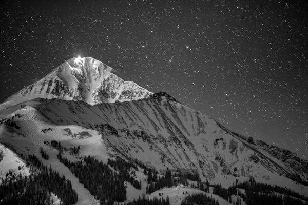 Nightfall on Lone Peak