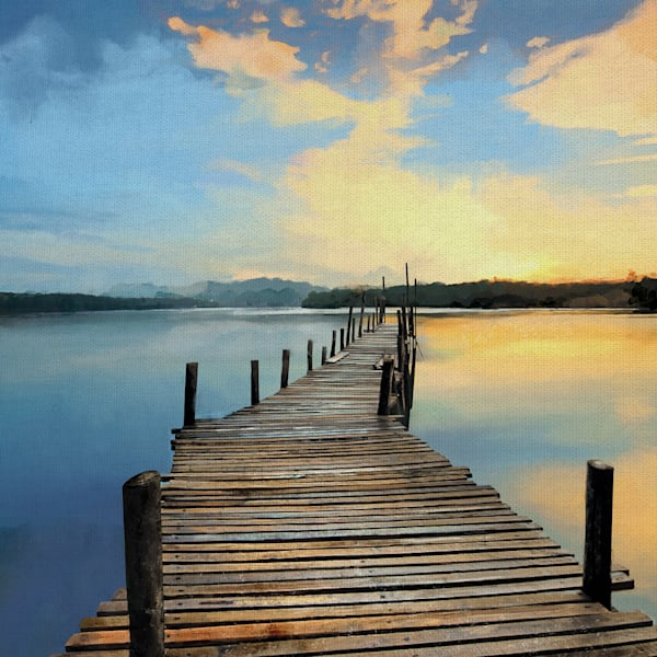 Sunset Pier by Studio Arts Canvas Art Print