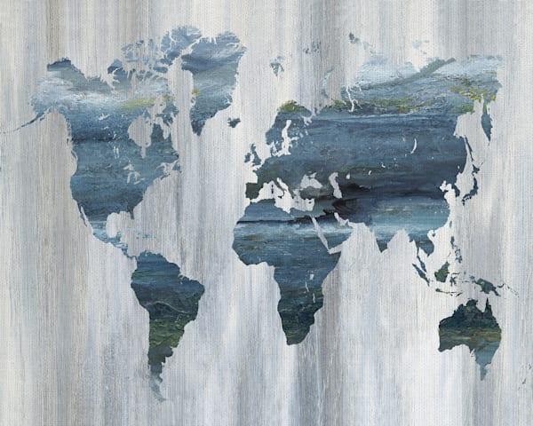 Textural World Map by artist Nan Canvas Art Print