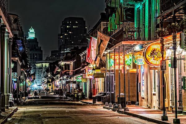 Bourbon Street neon glow photography
