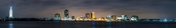 Baton Rouge skyline pano photography