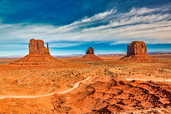 Panoramic Monument Valley photography